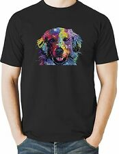 Golden Retriever T Shirt Neon Puppy Dog Colorful Mens Small to 6XL & Big Tall