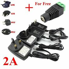 AC DC 110-240V 12V 2A POWER SUPPLY ADAPTER CHARGER FOR 3528 5050 LED STRIPS