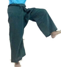 FISHERMAN WRAP PANTS THICK HEAVY COTTON NICE WALE YOGA TROUSERS UNISEX CASUAL