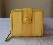 COACH SIGNATURE YELLOW CANVAS & LEATHER SMALL WALLET NWT 48774 NWT