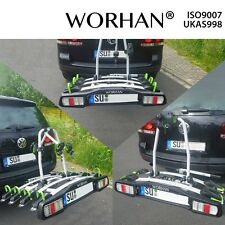 WORHAN® Bike Cycle Carrier Rack Towbar Tow Ball Mounted Full LED Lights Premium