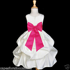NEW IVORY FLOWER GIRL DRESS PAGEANT PICK UP WEDDING PARTY 6-12M 2 3T 4 6 6X 8 10