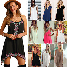 6-22 Womens Boho Lace Party Formal Dress Beach Evening Cocktail Top Blouse Tunic