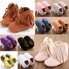 Moccasin Soft Sole Tassel Leather Baby spring autumn Shoes Infant Toddler #QGPL