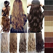 USA Mega Long 100% Natural Extensions Clip in HAIR EXTENTIONS 3/4 Full Head fo32