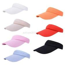 Outdoor Wide Brim Sun Visor Golf Tennis Baseball Hat Adjustable Sports Beach Cap