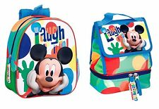 Mickey Mouse Disney Backpack Lunch Bag School Rucksack Official New