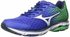Mens Mizuno Wave Rider 18  Running Shoes Blue Green Size 14