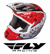 FLY RACING KINETIC CRUX MOTOCROSS ATV MX HELMET RED/BLACK/WHITE KIDS YOUTH SIZE