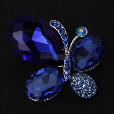 Fashion Crystal Butterfly Brooch Pin Jewelry Accessory