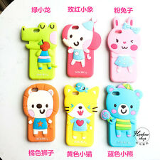 Fashion Korean style Lovely Cute Animals Silicone Soft Case For iphone 6 6s Plus