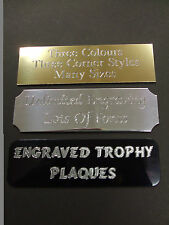 ENGRAVED TROPHY AWARD PLAQUE 89 x 38MM PLATE PICTURE FILMCELLS SELF ADHESIVE