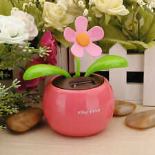 Flip Flap Solar Powered Flower Flowerpot Swing Car Dancing Toy Gift Home  LAU