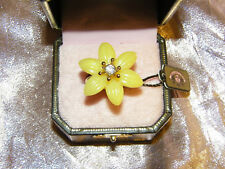 JUICY COUTURE * ENAMEL FLOWER  ADJUSTABLE RING-YELLOW