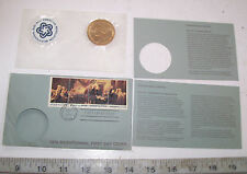 VINTAGE 1976 AMERICAN BICENTENNIAL 1ST DAY COVER STAMP COIN THOMAS JEFFERSON