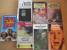 AGATHA CHRISTIE JOB LOT X 7 PENGUIN / PAN 1950s-1980s