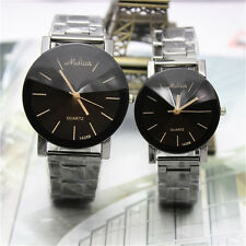 Fashion Men Womens Stainless Steel Watches Analog Quartz Movement Wrist Watch