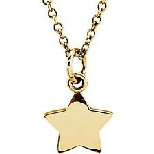 """Tiny Posh Petite 14kt Rose,Yellow or White Gold ~ STAR ~ Necklace 18"""" Chain"""
