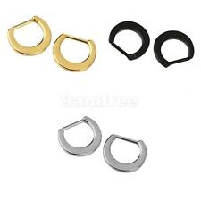 1Pair Septum Clicker Nose Ring Plain Nose Piercing Jewelry 316L Steel in 3 color