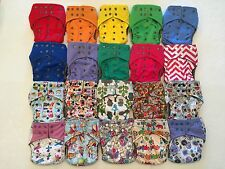 21 Happy Flute One Size All-In-One Charcoal Bamboo Cloth Diaper. Fit 10-40lb.