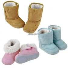 Baby Boys Girls Infant Toddler Winter Fur Shoes FuSnow Boots Warm 9-24M 3 Colors