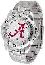 Alabama Crimson Tide Bama Men's Stainless Steel Logo Watch