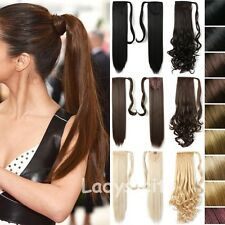Real long Clip In Hair Extension wrap around ponytail hairpiece As Humans FHS