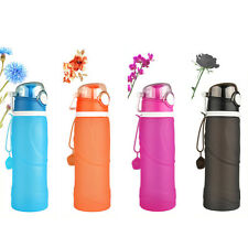 20 oz Protable Water Bottle Foldable Travel Sport Cycling Hiking Thermos 750ml