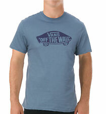 VANS Off The Wall New Men's Print Logo T-Shirt Top Tee S M L XL XXL Blue Mirage