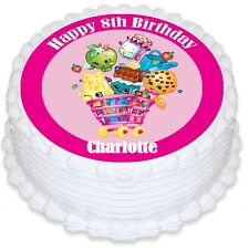 Shopkins Personalised Round Edible Cake Topper - PRE-CUT