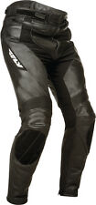 FLY STREET - APEX Leather Motorcycle Riding Pants (Black) Choose Size