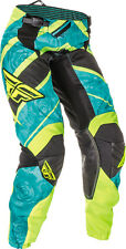 FLY RACING Offroad MTB Girls 2016 KINETIC Race Pants (Teal/Hi-Vis) Choose Size