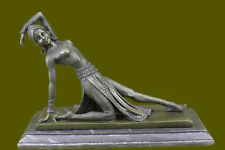 Bronze Sculpture Art Deco Show Girl Dancer Statue Figurine Figure