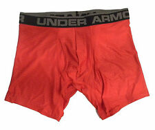 "Under Armour Original Boxerjock Red Stripe 6"" Boxer Briefs NIB 1237812 606"