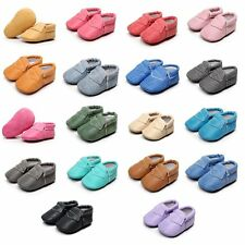 Infants Baby Soft Crib Shoes Leather/Denim Prewalkers Boys Girls Non-Slip Shoes
