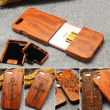 Real Natural Wood Bamboo Wooden Hard Case Cover For Samsung S6 S7 Edge & iPhone