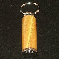 Osage Orange Pill or Toothpick Keychain in Chrome or 10k Gold Plating