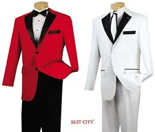 Men's Formal Tuxedo Prom Wedding Groom Suit Classic Fit Two Button 2-Tone