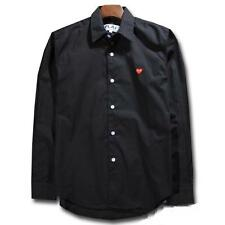 Men's Shirts Comme Des Garcons CDG Play Red Heart Tops Solid Casual Shirt New