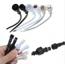 5Pairs 2 pin / 3 pin / 4 pin Waterproof connector with wire cable IP68 0.3mm2