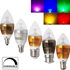 Dimmable 6/8/10W LED Chandelier Bulb E12 E14 E27 B15 B22 Candle Light White Lamp