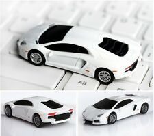 8GB 16G USB Flash Drive White Car Pen Drive USB 2.0 Memory Stick Flash Disk Gift