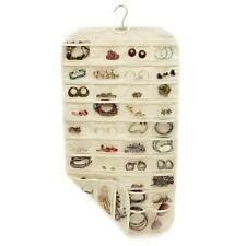80 Pocket Hanging Storage Organizer Holder Jewelry Earing Bag Pouch Display