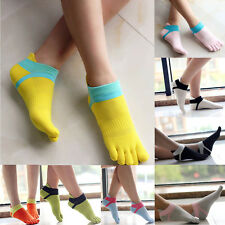 Women High Quality Comfortable Sport Ankle Protect Foot Five Fingers Toe Socks