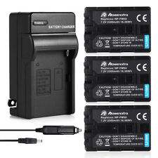 NP-FM50 Battery + Charger For Sony DSC-S30 S85 F707 F717 DCR-TRV250 280 NP-FM30