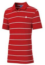 New Mens K-Swiss Striped Polo Shirt T-Shirt Top - Red Stripe