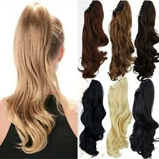Cheap Price Long Clip in on Ponytail Hair Extensions Claw On Curly hairpiece frn
