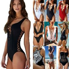 Sexy Ladies One Piece Swimsuit Bikini Monokini Push Up Padded Swimwear S-XL FO