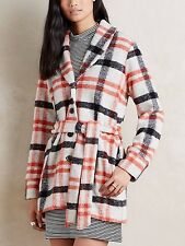 ANTHROPOLOGIE Cartonnier Hetty Plaid Wool Coat Jacket NwT XS