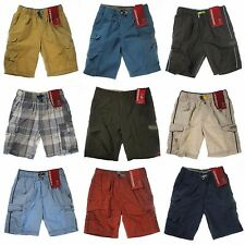 UNIONBAY Lightweight Pull-On Cargo Shorts for Boys - Elastic Waistband